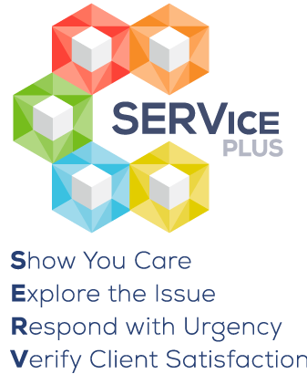 SERVICE PLUS Logo and Call to action